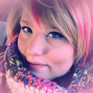 letter2self pink hair selfie