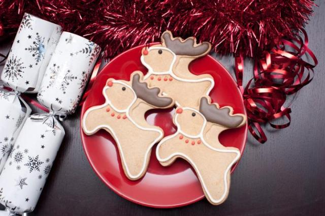 Reindeer Christmas Cookie