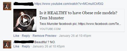 Tess Munster Link Comment on Facebook.com/letter2self