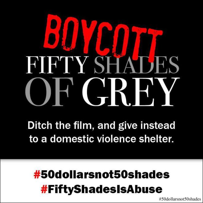 50 Shades not 50 Dollars - Boycott of 50 Shades of Grey movie